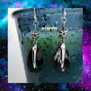 "Swarovski Crystal ""Mystic Topaz"" Earrings"
